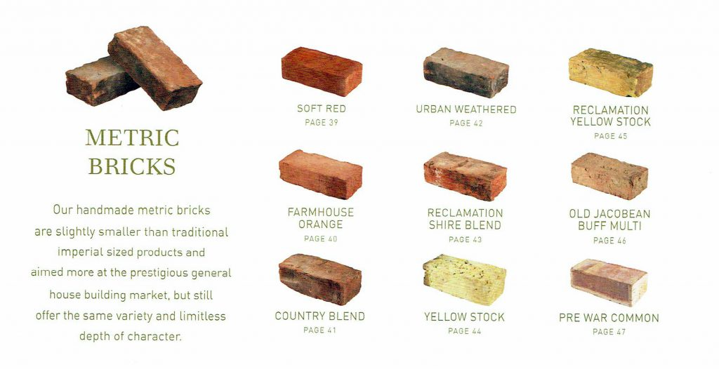 Bricks Metric And Imperial Bricks From Aw Mobbs Of